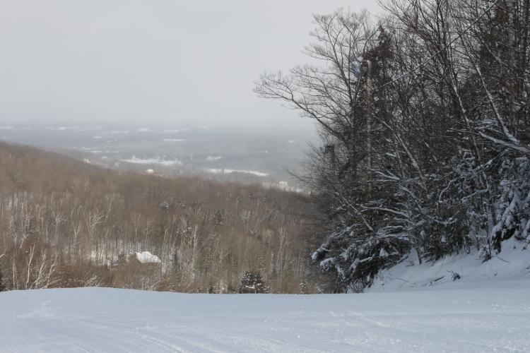 Mont Hatley en hiver